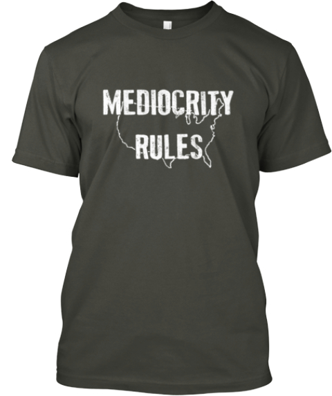 Tired Of The Dumbing Down Of America? Smoke Gray T-Shirt Front