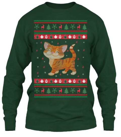 Cat Ugly Christmas Sweater Ugly Sweater Products from Cat T-Shirts ...