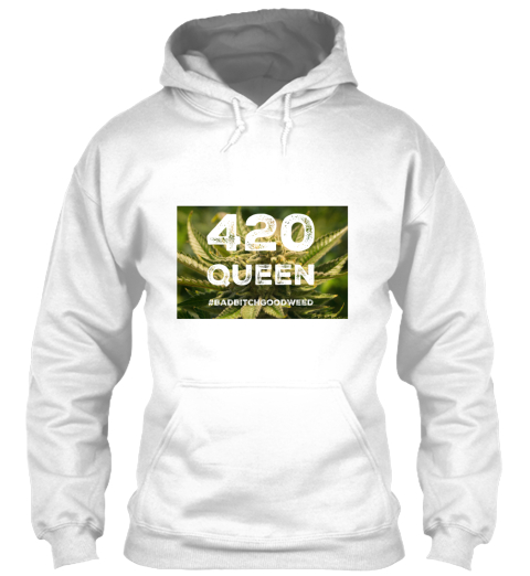 420 Queen  White T-Shirt Front