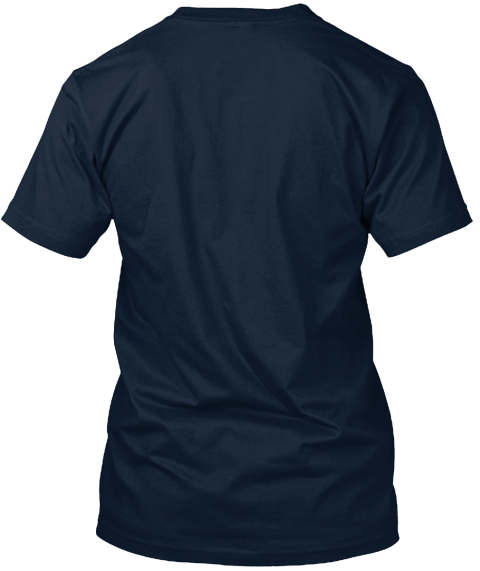 Touch Gloves And Come Out Swinging  New Navy T-Shirt Back