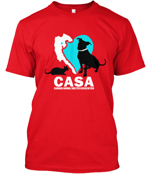 Casa Limited Edition Island Love Shirts Red T-Shirt Front