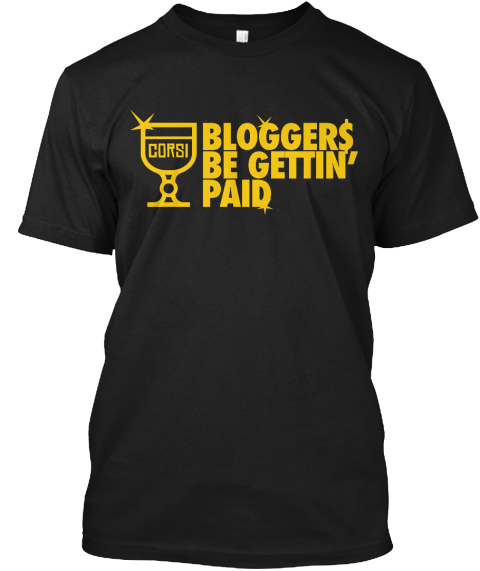 Bloggers Be Gettin Paid Black T-Shirt Front