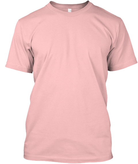 Raise Your Hand For Girls! Pale Pink T-Shirt Front