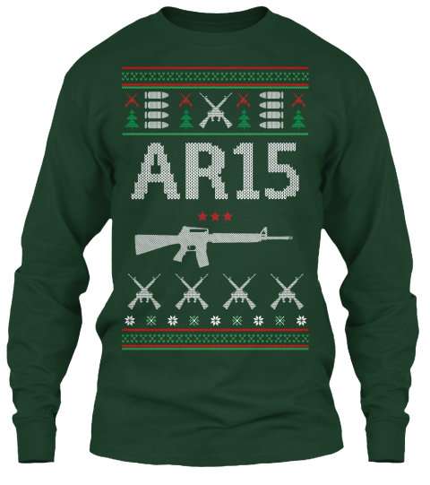 Ar 15 Forest Green Long Sleeve T-Shirt Front