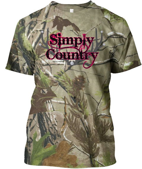 Simply Country Camo T Shirt Camouflage T-Shirt Front