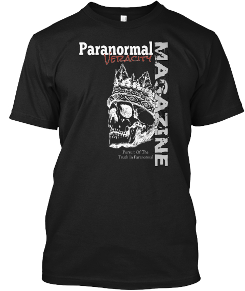 Paranormal Veracity Pursuit Of The Truth In Paranormal Magazine Black T-Shirt Front