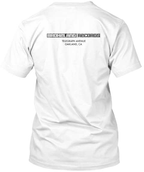 Genuine Fictitious Brokeland Records Tee White T-Shirt Back