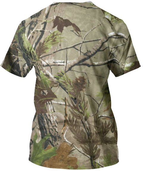 Simply Country Orange &Amp; Realtree Camouflage T-Shirt Back