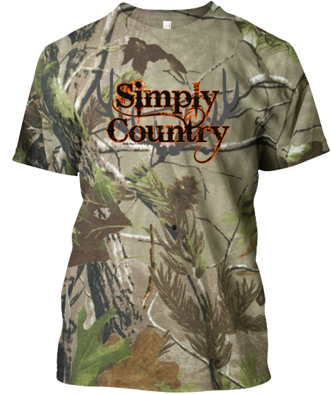 Simply Country Orange &Amp; Realtree Camouflage T-Shirt Front