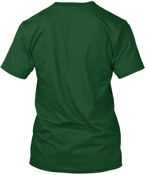 After Disaster Xmas Apparel Forest Green  T-Shirt Back