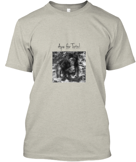 Ape For Toto! Ash T-Shirt Front