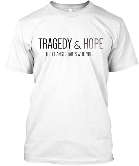 Limited Edition Tragedy &Amp; Hope Apparel  White T-Shirt Front