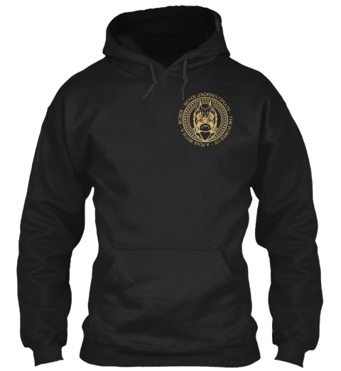 Limited Edition   Man With A Boxer Black Sweatshirt Front