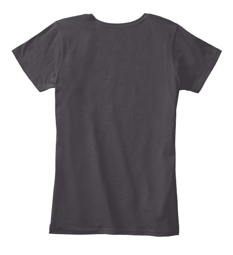 Black/Grey Women's T Shirt Heathered Charcoal  Women's T-Shirt Back
