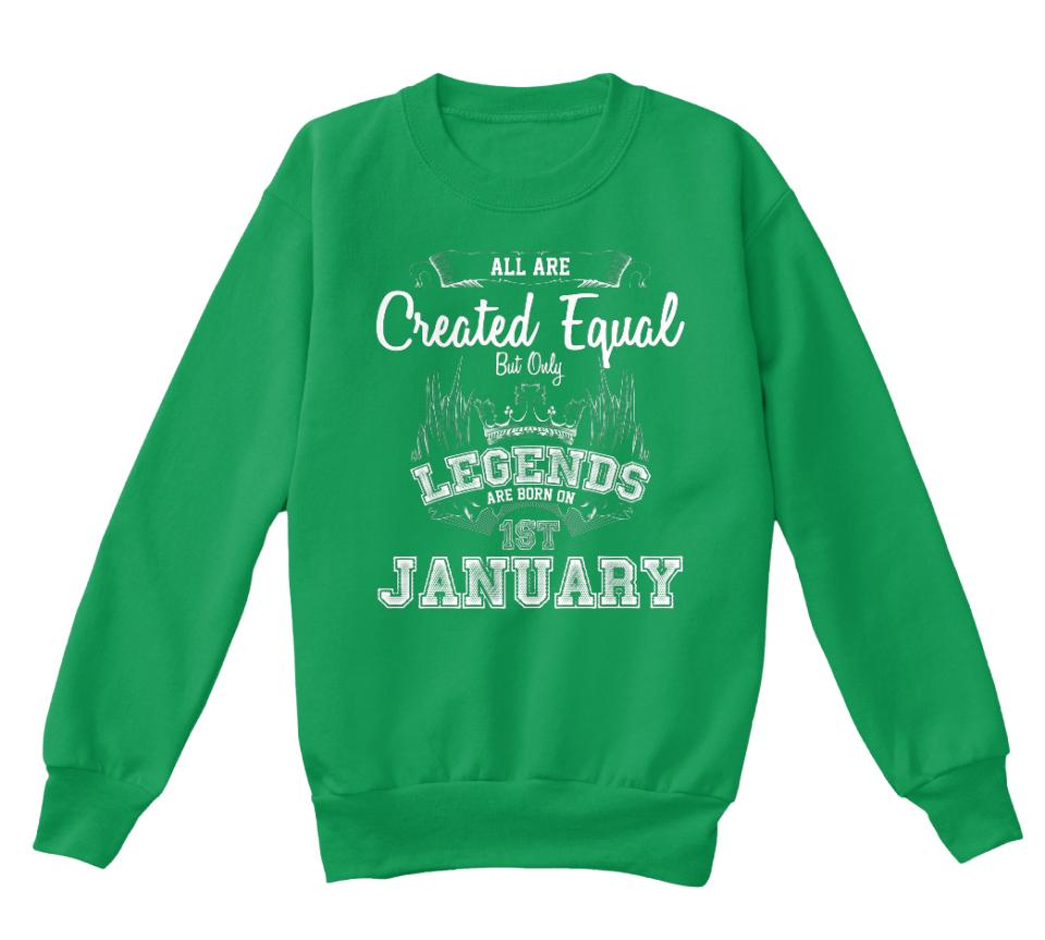 Legends are born in January t-shirt kids children/'s Xmas birthday present gift