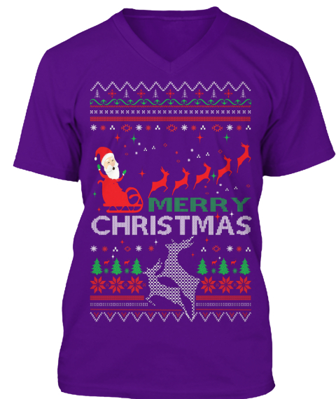 merry christmas team purple t shirt front