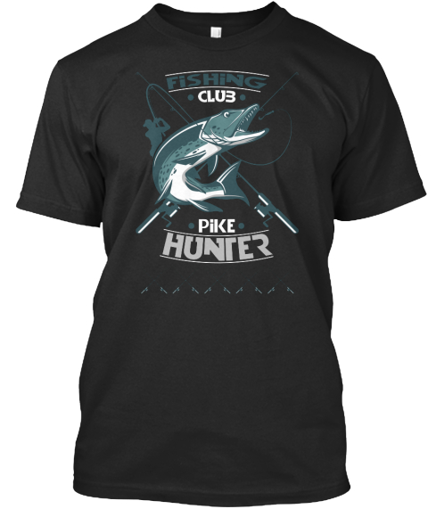 Custom fishing t shirts fishing club pike hunter for Fishing team shirts