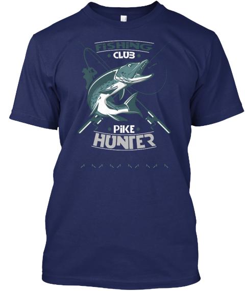 Custom fishing t shirts fishing club pike hunter for Custom fishing shirts