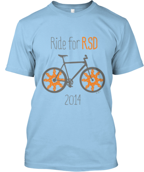 Ride For Rsd Tshirts! Light Blue T-Shirt Front
