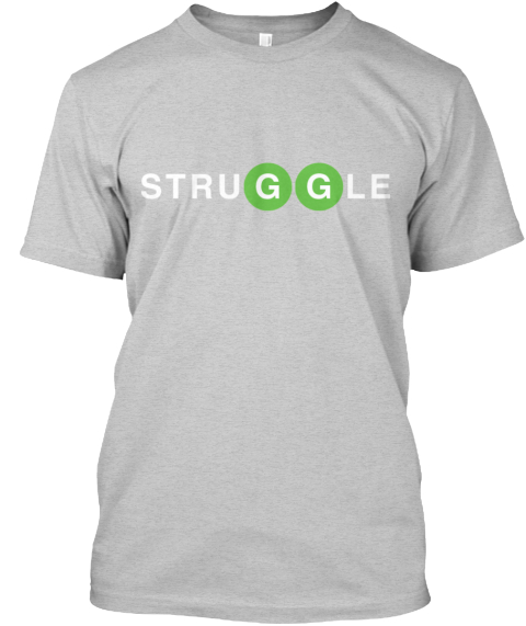 G Train Stru Ggle.  Light Steel T-Shirt Front