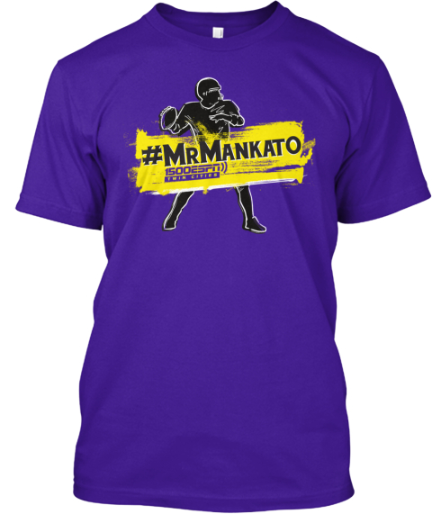 1500 Espn #Mr Mankato Team Purple T-Shirt Front