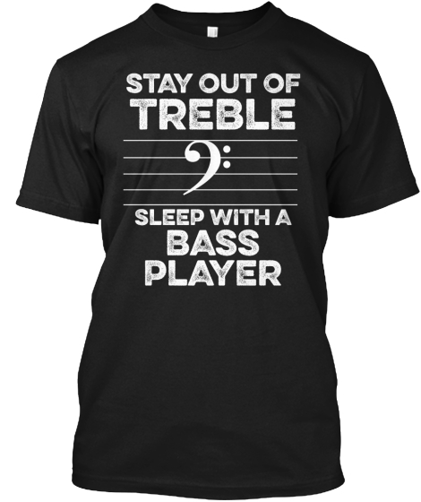 New! Limited Edition Bass Shirt T-Shirt Front