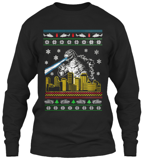 Godzilla Ugly Christmas Sweater Products | Teespring