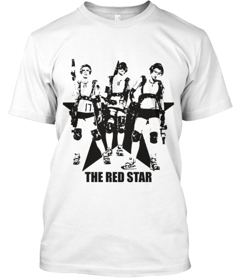 Limited The Red Star Rapid Fire Shirt White T-Shirt Front