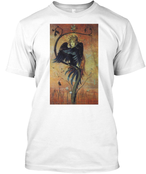 Gamayun, The Prophetic Bird White T-Shirt Front