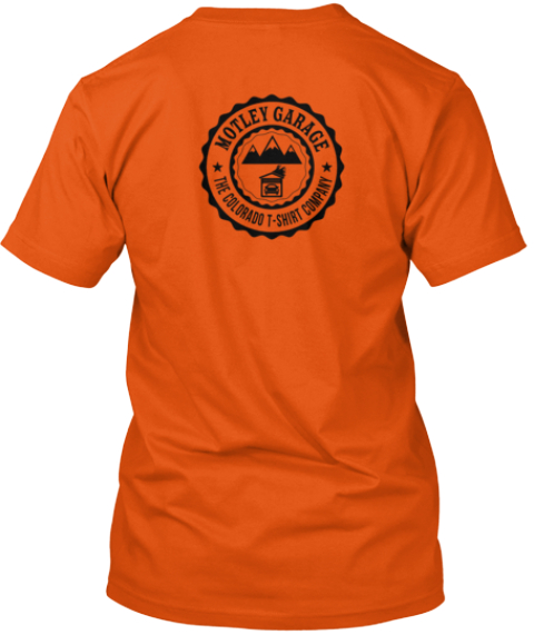 I Hate Dc Traffic Orange T-Shirt Back