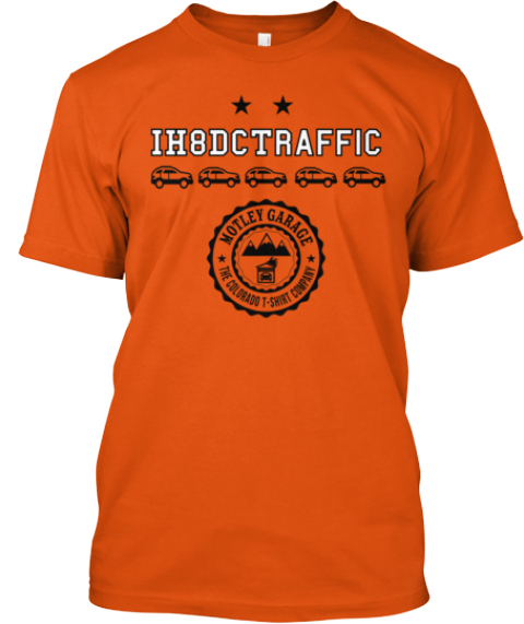 Ih8 Dc Traffic Orange T-Shirt Front
