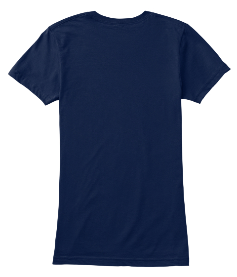 Not A Number   Stop Human Trafficking!  Navy Women's T-Shirt Back