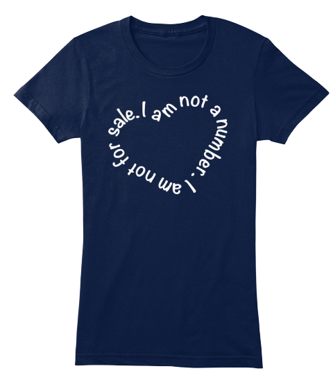 I Am Not A Number I Am Not For Sale Navy Women's T-Shirt Front