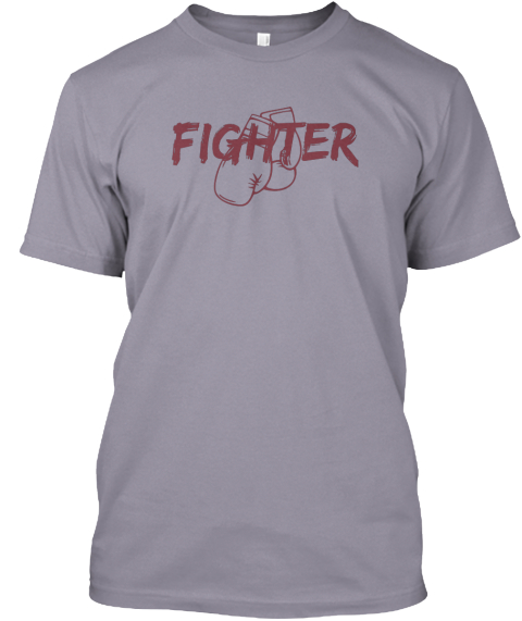 Fighter Slate T-Shirt Front