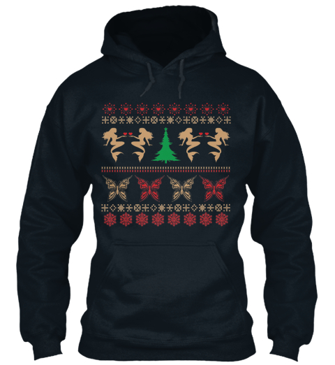 Best Ugly Christmas Hoodies And Tote French Navy T-Shirt Front