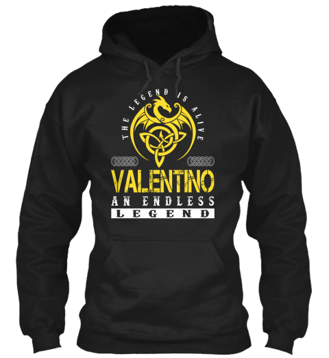The Legend Is Alive Valentino An Endless  Legend Black Sweatshirt Front