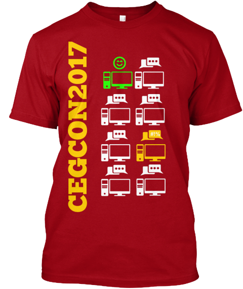 Cegcon2017 Deep Red T-Shirt Front