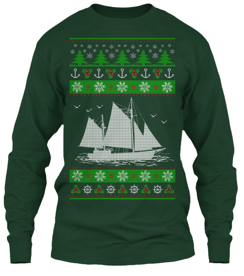 Sailing Ugly Christmas   Limited Edition Long Sleeve T-Shirt Front