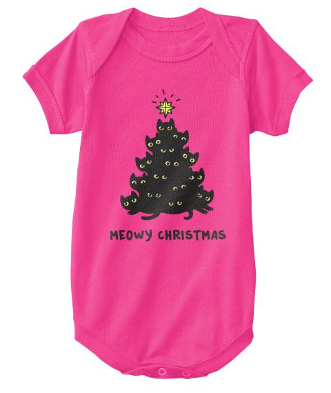 Meowy Christmas.Meowy Christmas Baby Onesie