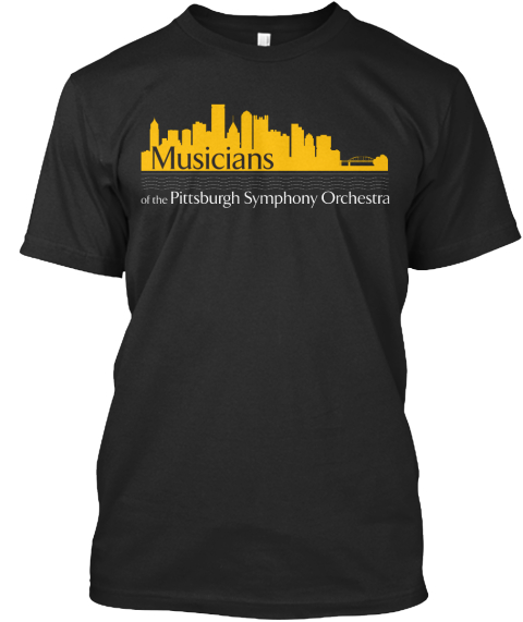 Musicians Of The Pittsburgh Symphony Orchestra Black T-Shirt Front
