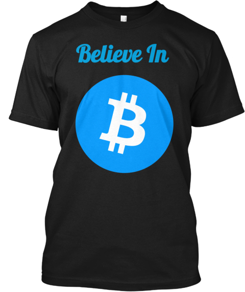 Believe In Black T-Shirt Front