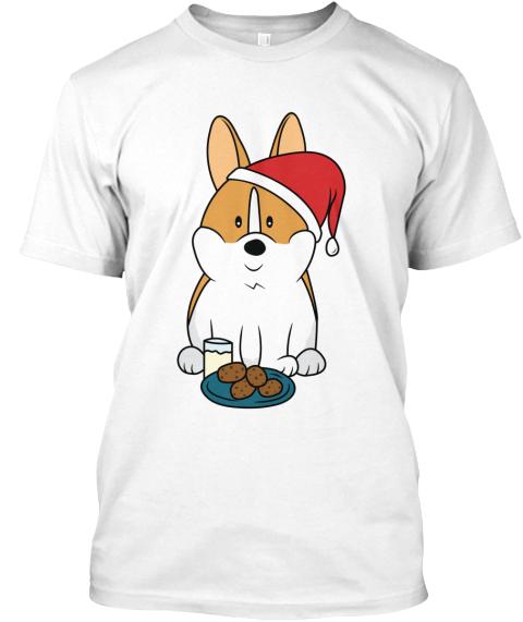 corgi christmas t shirt and mug white t shirt front - Corgi Christmas