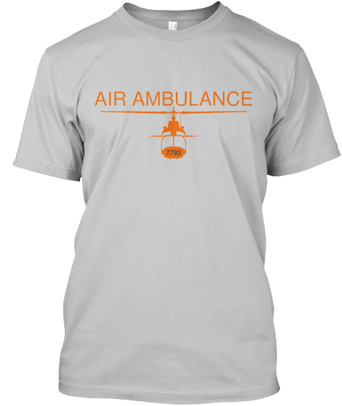 Air Ambulance 7793 Black Camiseta Front