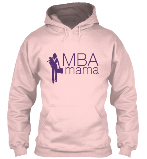 Mba Mama Christmas Swag Light Pink Sweatshirt Front