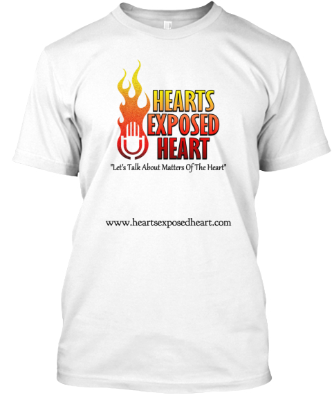 Www.Heartsexposedheart.Com White T-Shirt Front