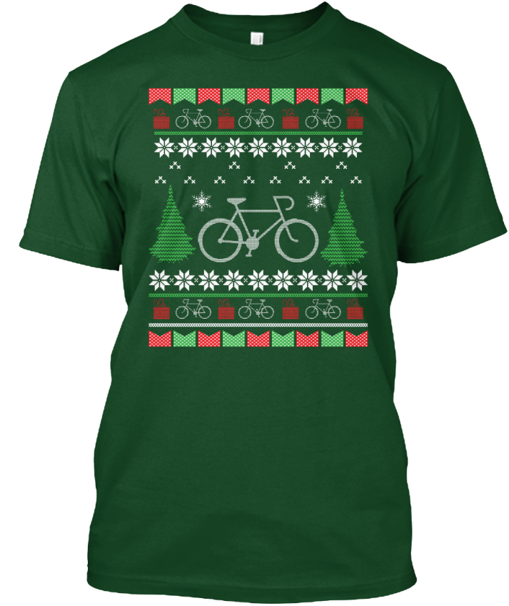 image is loading bicycle ugly christmas sweater style hanes tagless tee - Ebay Ugly Christmas Sweater