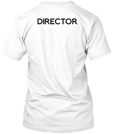 Men's Collabra Cam Director Tee White White T-Shirt Back
