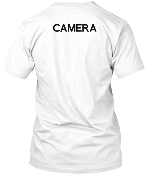 Men's Collabra Cam Camera Tee White White T-Shirt Back