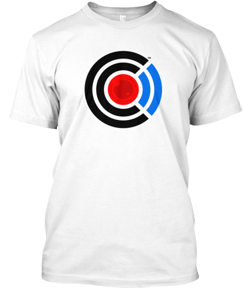 Men's Collabra Cam Camera Tee White White T-Shirt Front