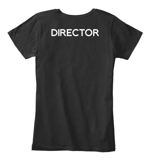Women's Collabra Cam Director Tee Black Black Women's T-Shirt Back